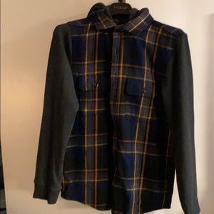 Flannel button down/sweatshirt from Express